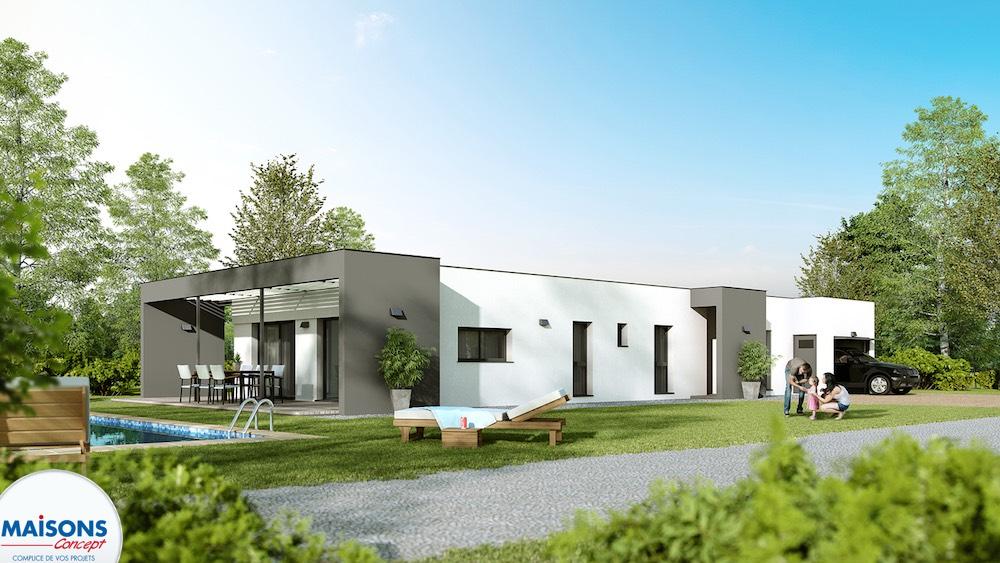 Linea maison ultra moderne for Modele maison d architecte