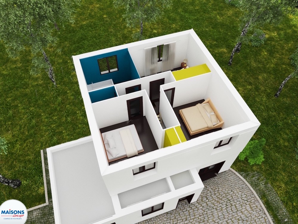 Plan 3D City 68 etage