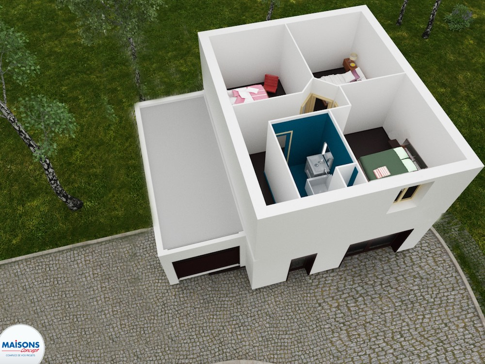 Plan 3D city 60 etage