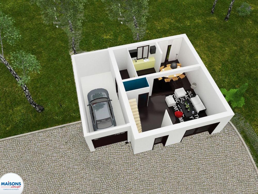 Plan 3D city Tradi 60 rez de chaussee