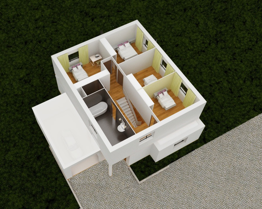 Plan 3D conception etage