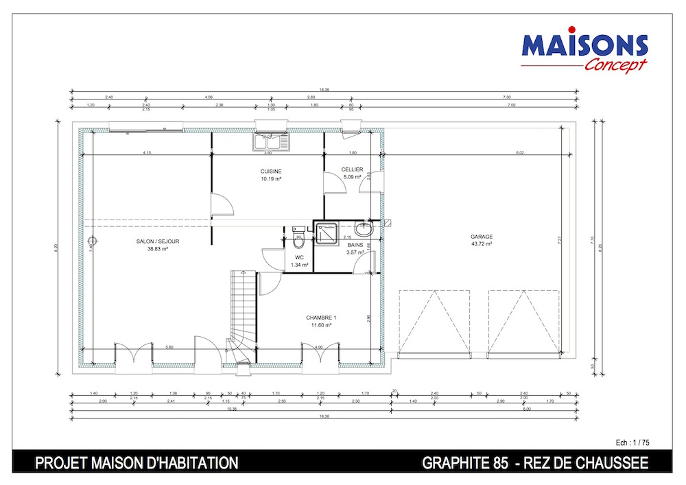 Charming Cheap Plan Maison Graphite Ch Double Garage With Plan Maison Double