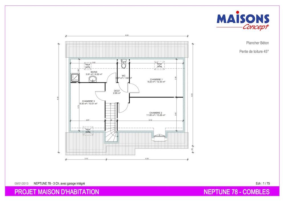 Plan maison neptune 78 m21