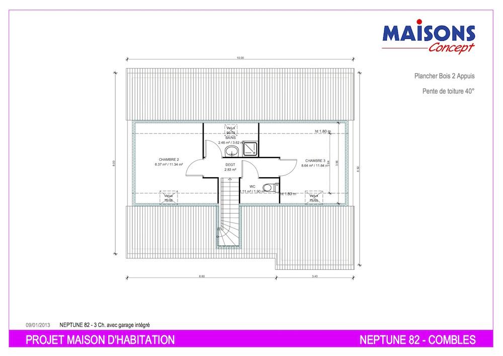 Plan maison neptune 82 m2 1