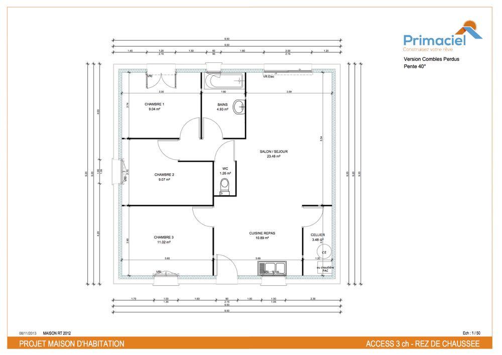 Plan primaciel Access maison pas cher 1