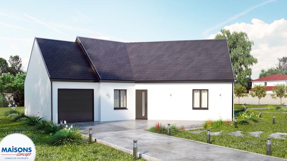 maison traditionnelle avec plan en V