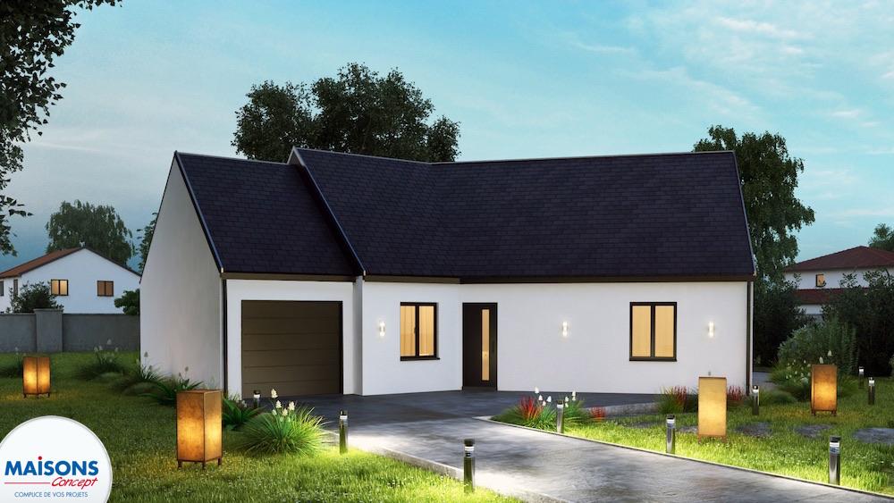 maison neuve RT2012 en V