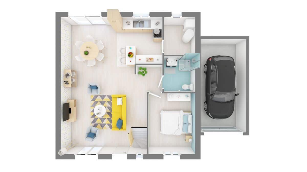 maison essentiel plan rdc