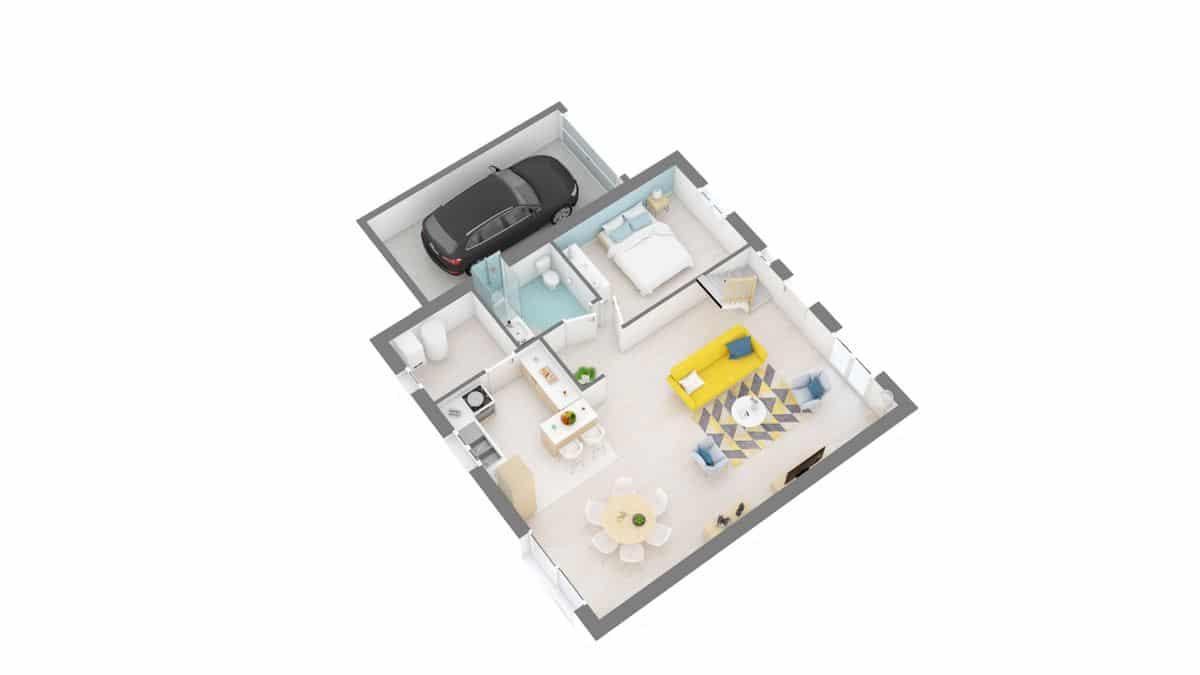maisons Concept - Primaciel low cost -02_Dynamique-g0-axo_rdc