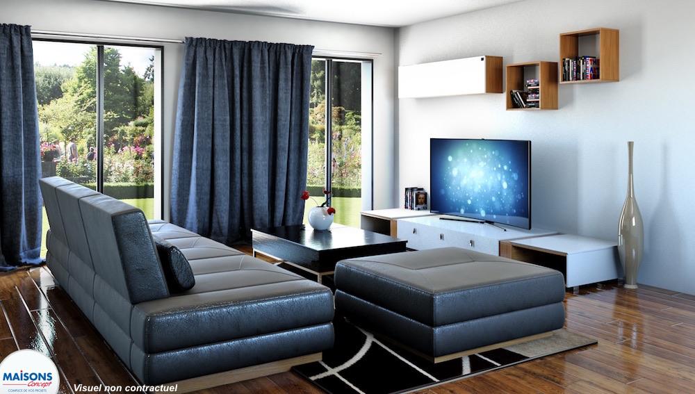 elegance maison avec plan en l. Black Bedroom Furniture Sets. Home Design Ideas