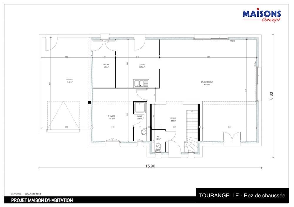 terrain maison chailles 41. Black Bedroom Furniture Sets. Home Design Ideas
