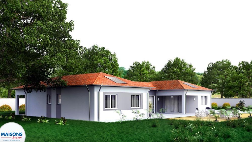 Maison Prestance vue terrasse