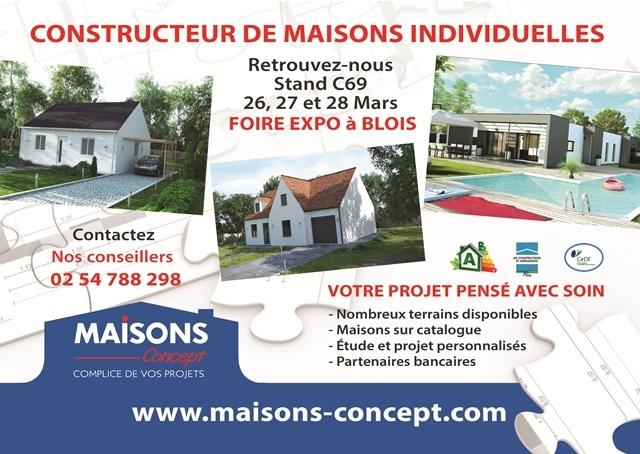 Salon de la maison blois 26 27 et 28 mars 2016 for Constructeur de maison loir et cher