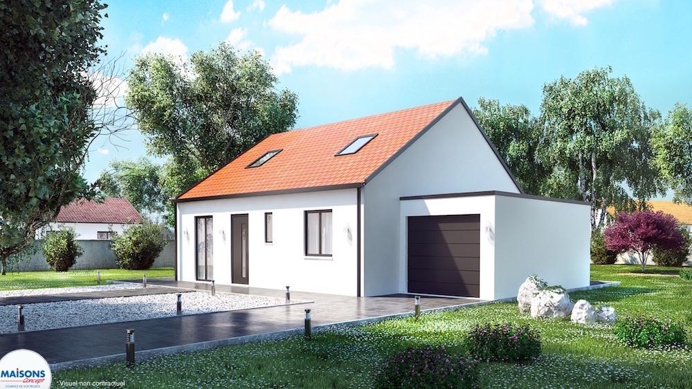 Maison entrée de gamme avec garage