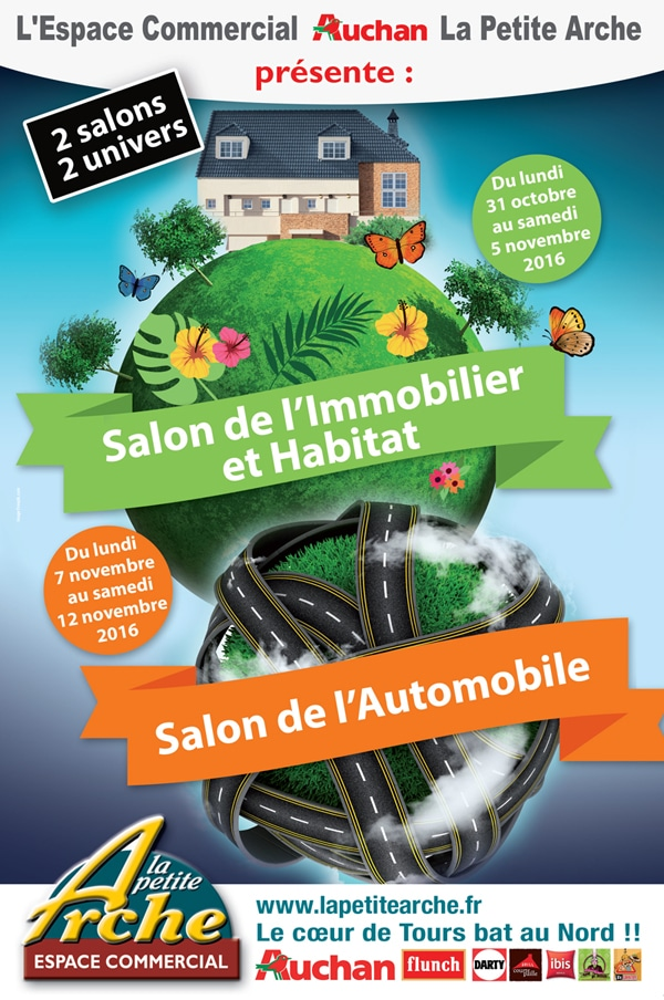 Salon de l 39 immobilier auchan la petite arche tours nord - Numero de telephone boutique orange la defense ...