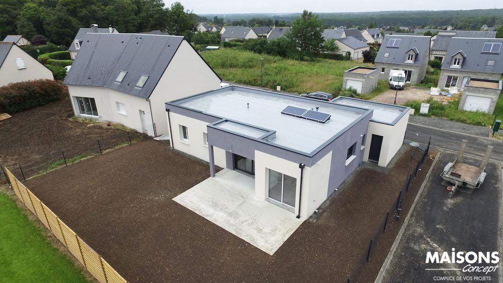 Modele maison basse toit plat id es novatrices de la for Modele maison toit plat