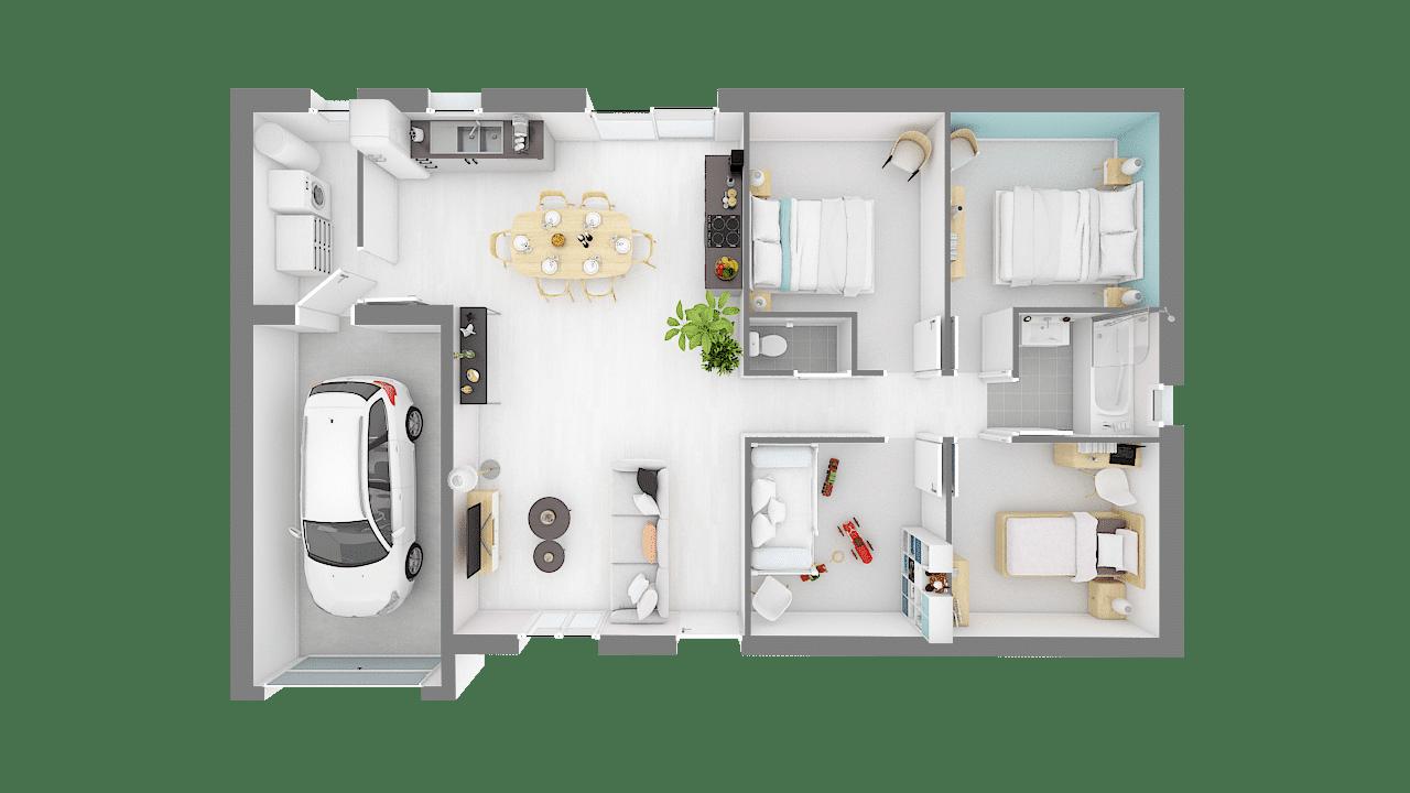 Maisons Concept plan _TOPAZE_125_4_ch-f-vue_de_dessus_rdc