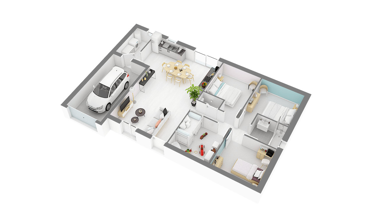 Maisons Concept plan _TOPAZE_125_4_ch-g-axo_rdc
