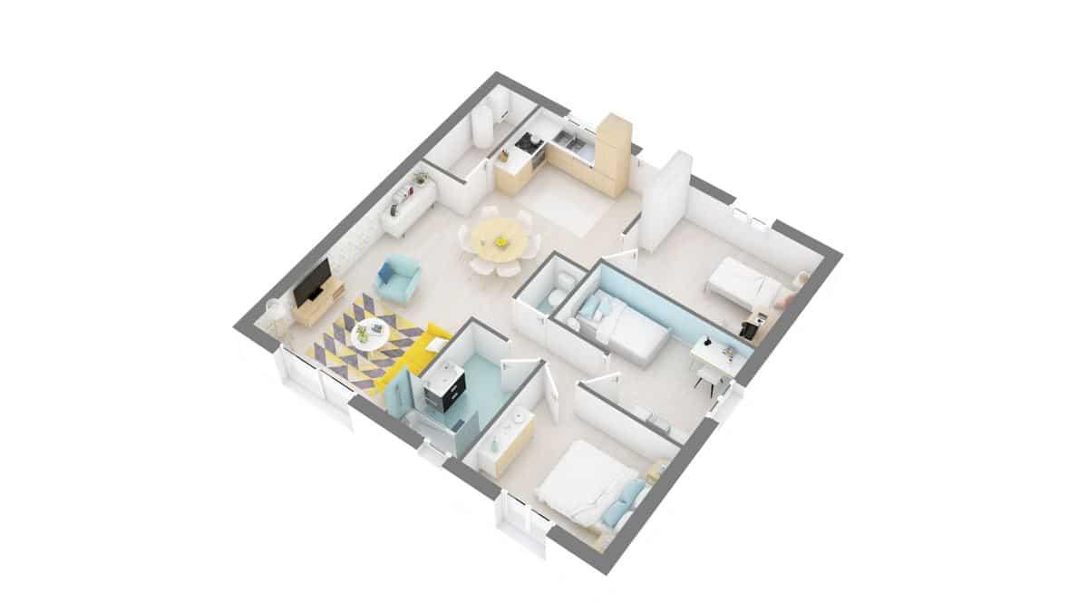 maisons Concept - Primaciel low cost -01_Access-g0-axo_rdc
