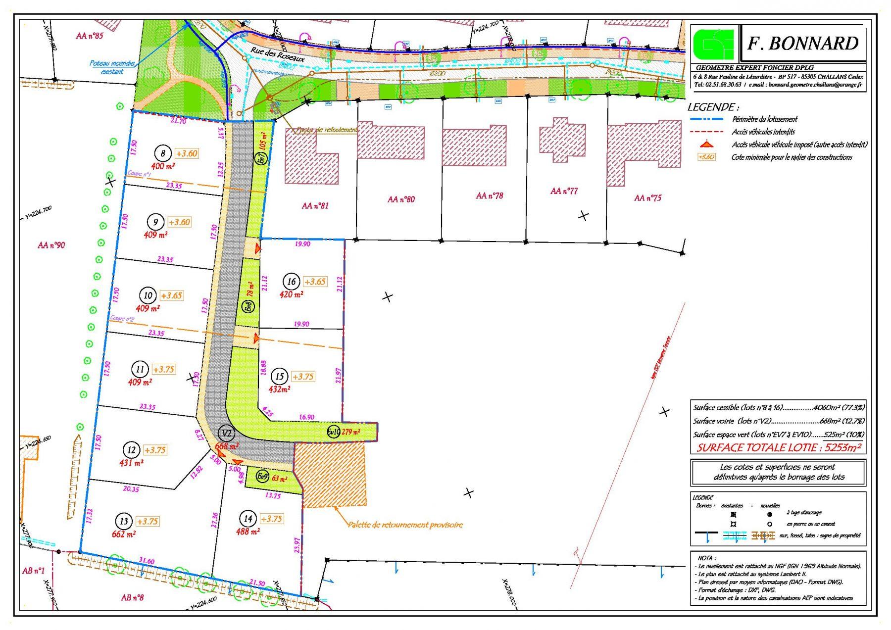 Plan de composition Mauregard Tr 5