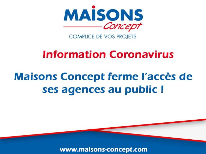 Informations coronavirus Maisons Concept