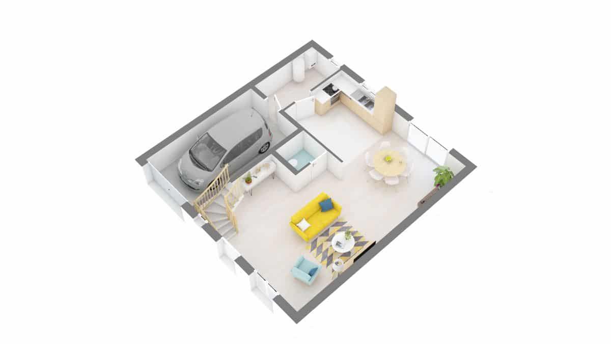 maisons Concept - Primaciel low cost -01_Futura-g0-axo_rdc
