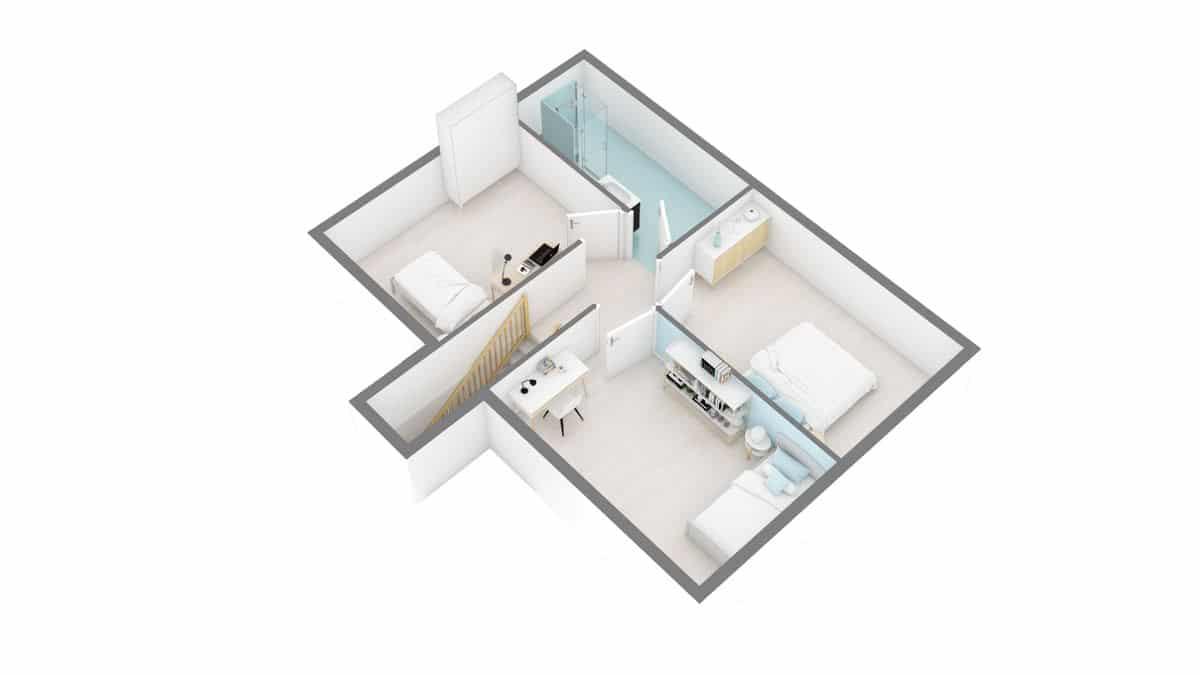 maisons Concept - Primaciel low cost -01_Futura-g1-axo_etage