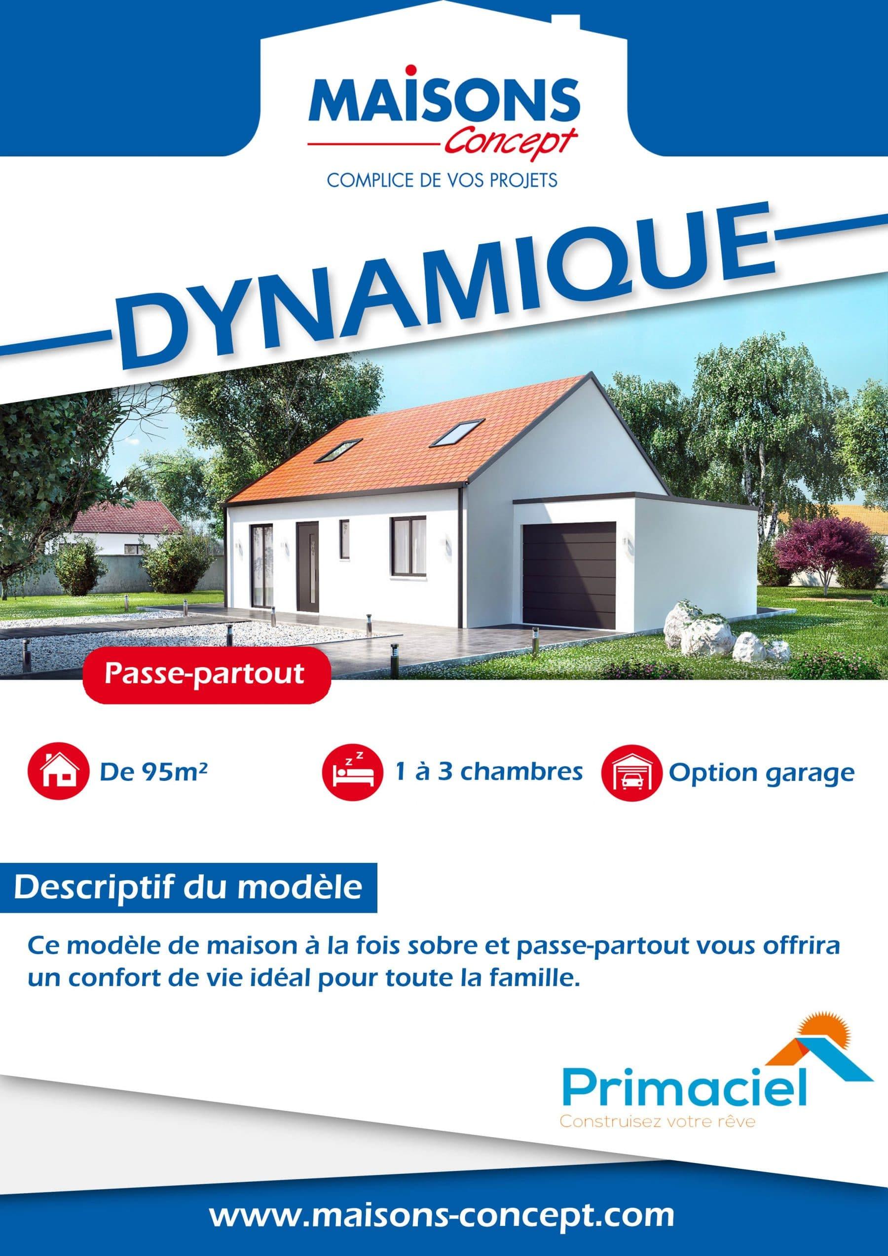 fiche technique de la maison dynamique de Maisons Concept