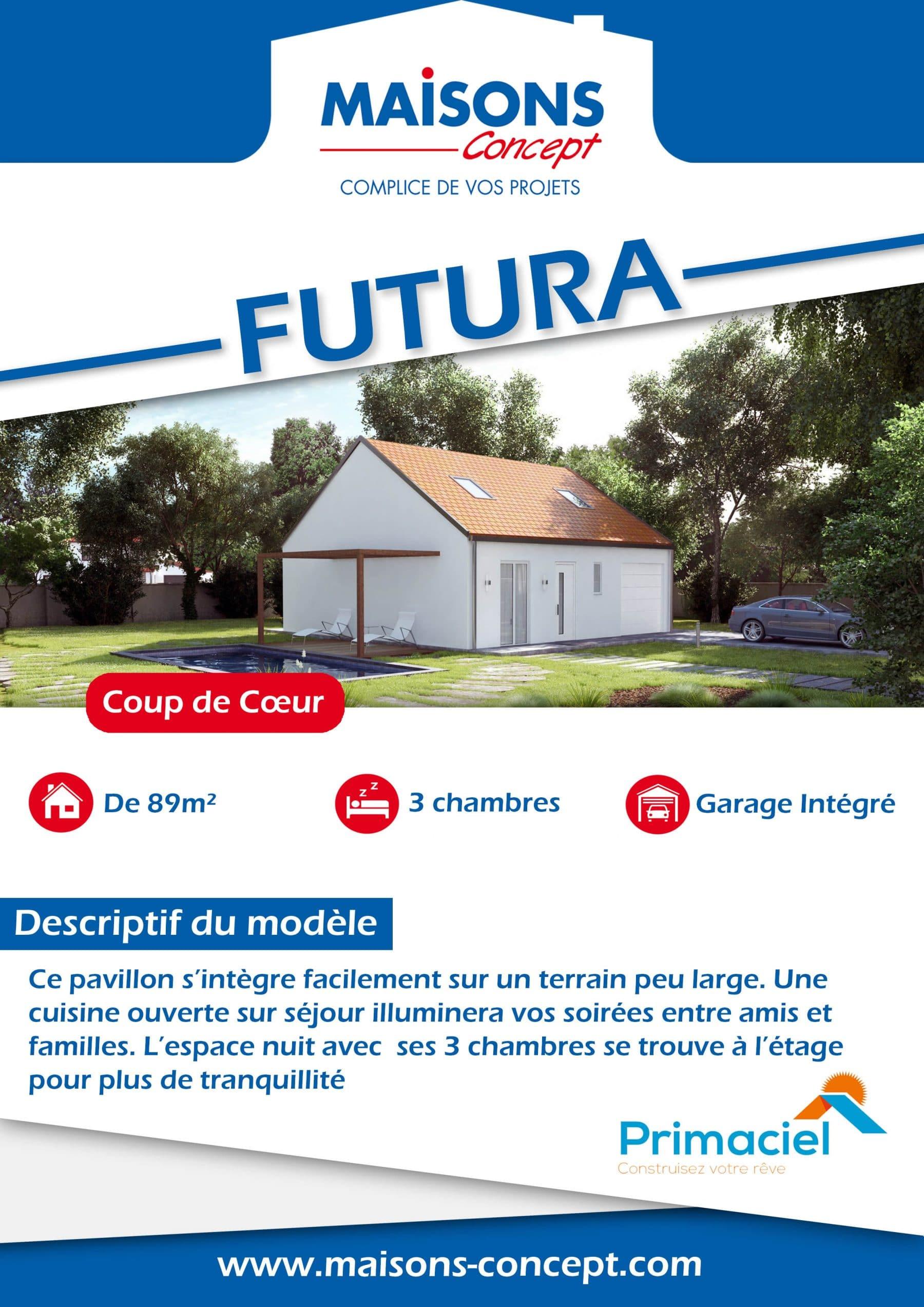 fiche descriptive de la maison futura de la gamme primaciel de maisons concept