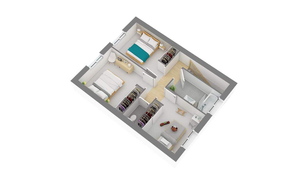 maisons Concept_Maison_Modele maison JADE-g-axo_etage