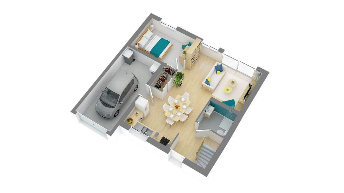 maisons Concept_Maison_Modele maison JADE-g-axo_rdc