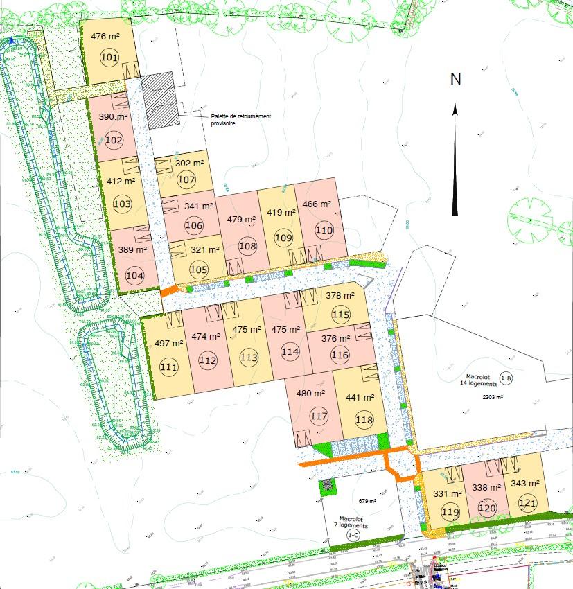 Plan lotissement La Chaize-le-Vicomte