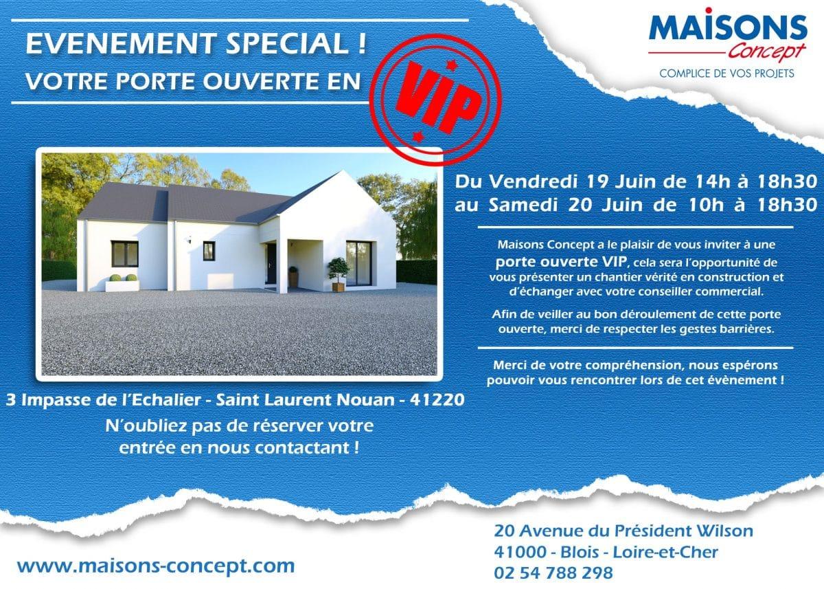 porte ouverte Blois Maisons Concept