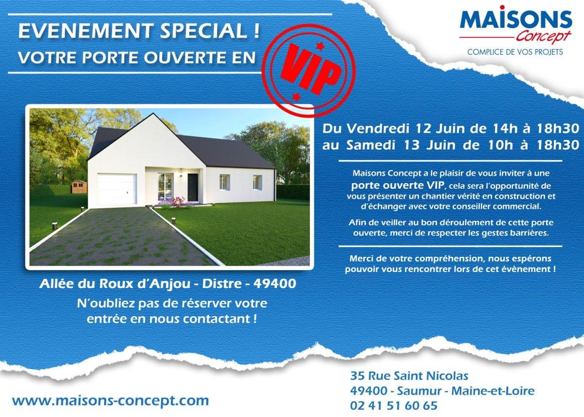 Porte ouverte Maisons Concept Saumur
