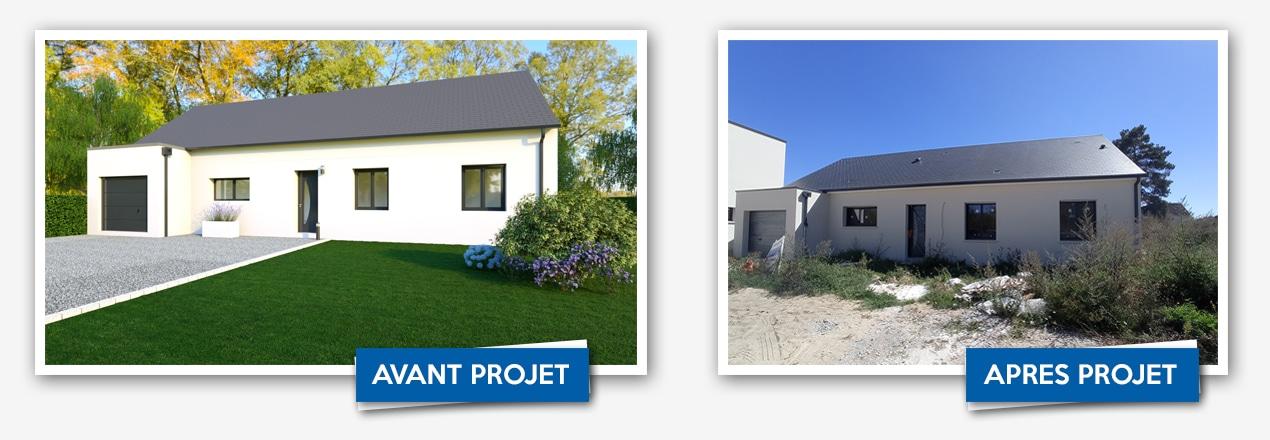 avant apres projet maisons concept Blois