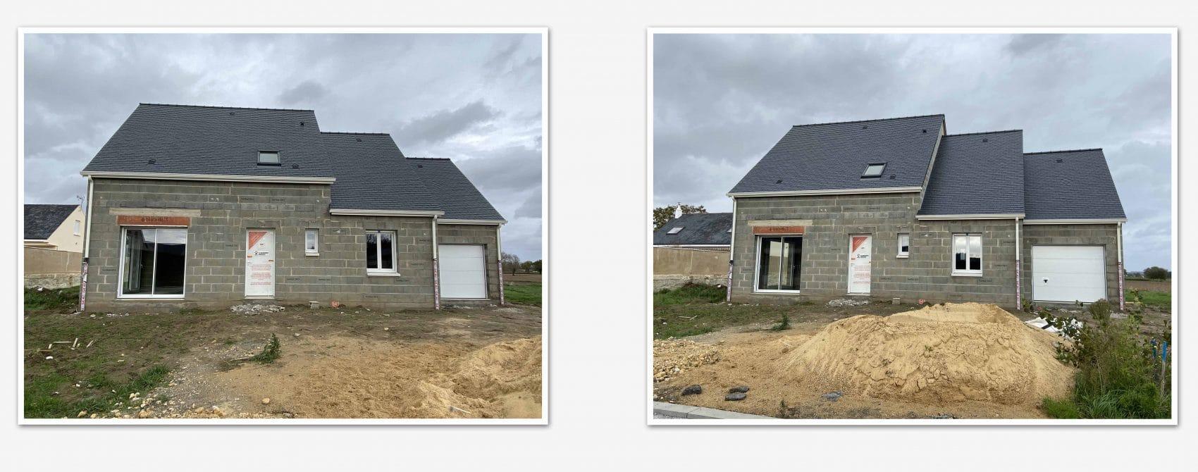 Photo du chantier Maisons Concept à Villebernier