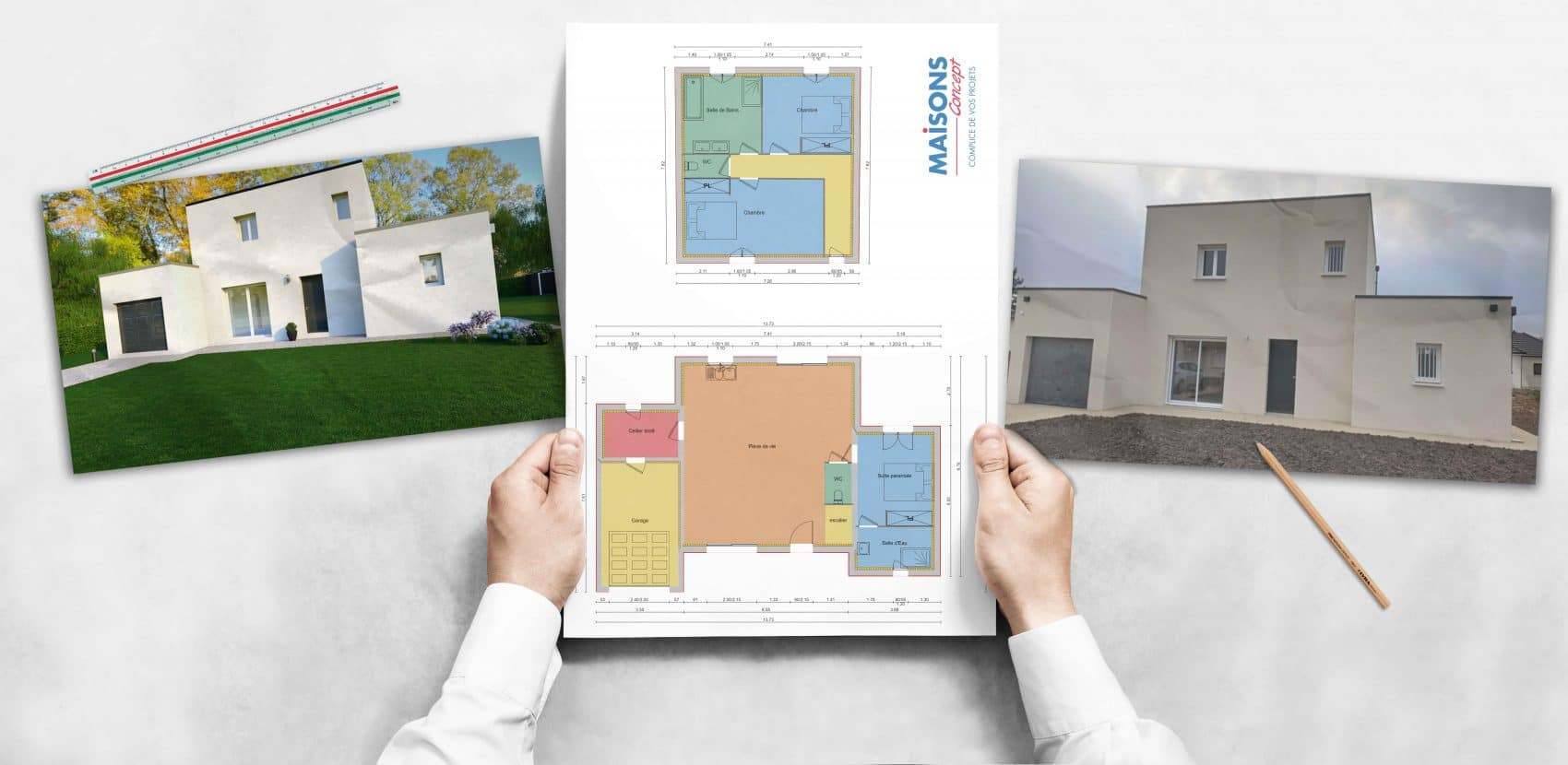 construction maisons concept Huisseau sur cosson