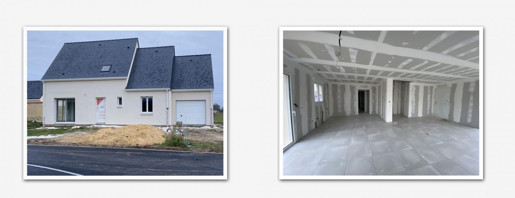 chantier maisons concept à Villebernier