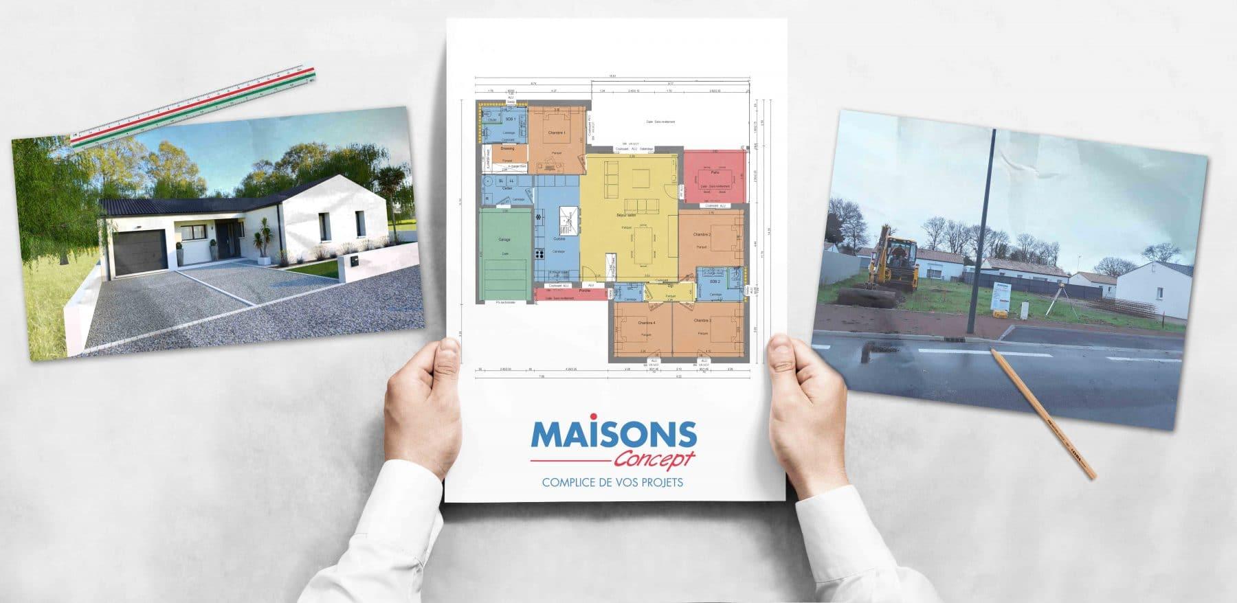 Presentation chantier Maisons Concept en vendée à Challans
