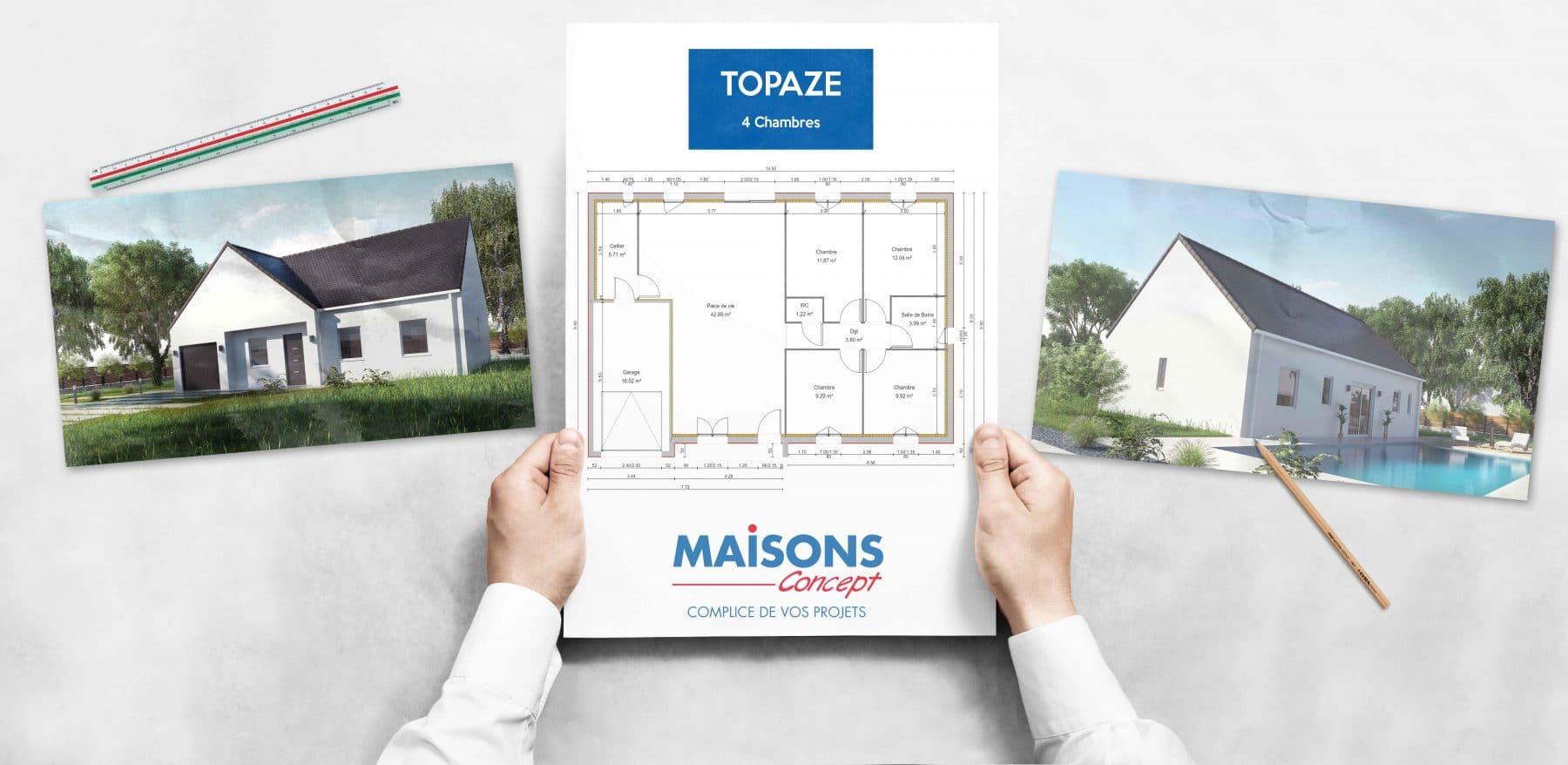 Topaze pour lotissement Veretz Maisons Concept