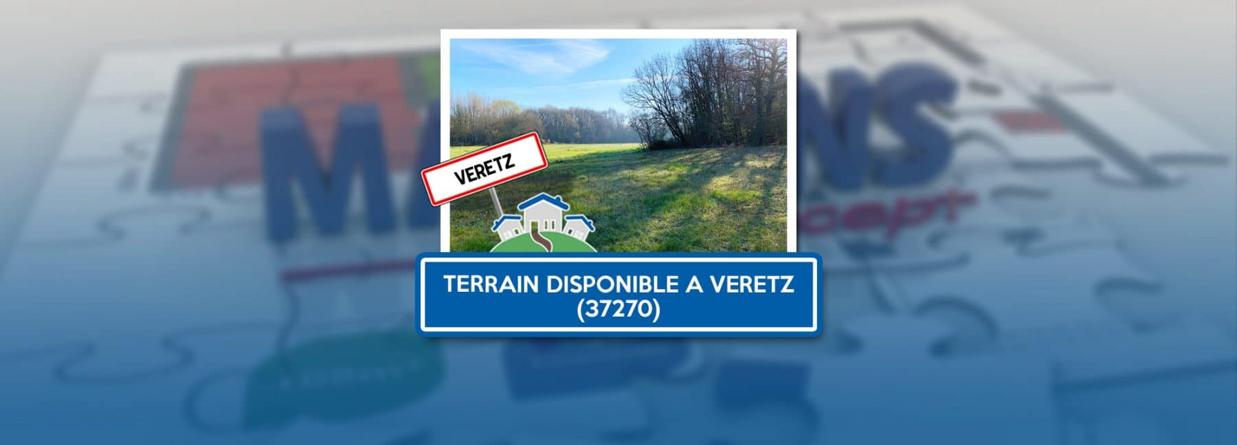 Terrain disponible à Veretz