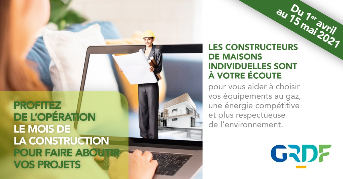 Bannière GRDF Maisons Concept le mois de la construction
