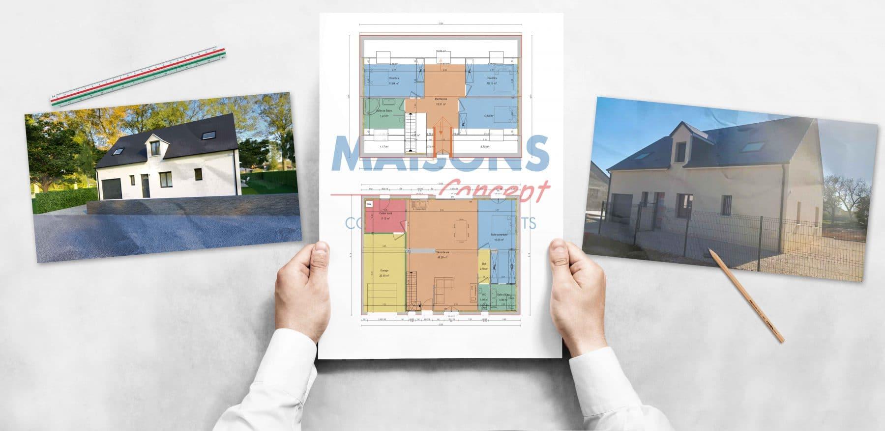Projet de construction Maisons Concept à Villebarou
